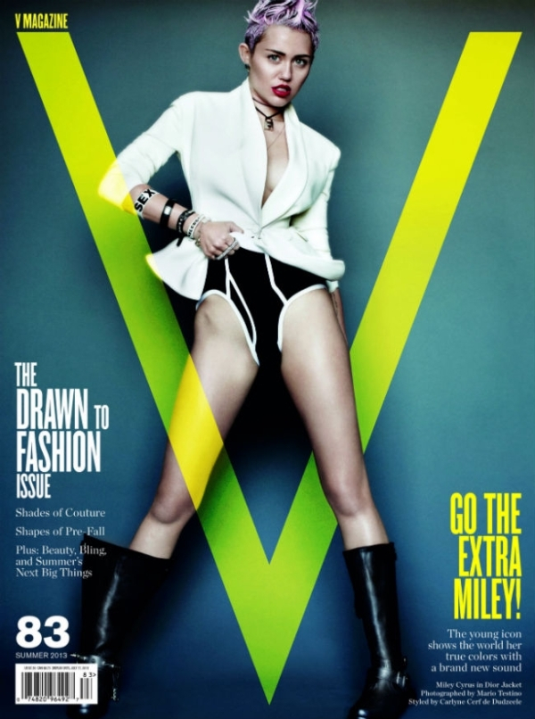 Miley Cyrus V Magazine June Juni 2013 Mario Testino cover editorial magazine tijdschrift