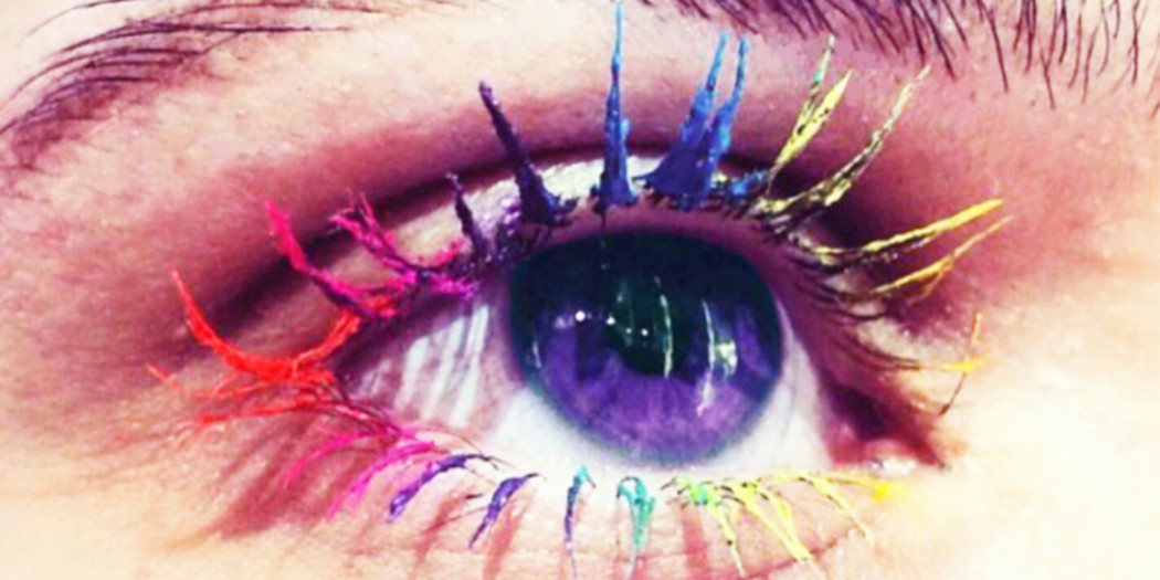 Wimpertrend gespot: Rainbow Lashes