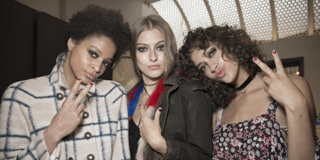 Get the look: color blocking nails as seen at NYFW