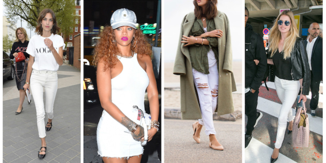Trend: white denim
