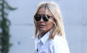 OOTD: Lara Bingle in Overhemd