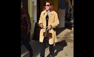 OOTD: Alexa Chung in teddy coat