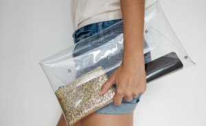 Made by me: Transparante clutch