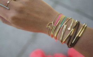 Made by me: Gold tube bracelets