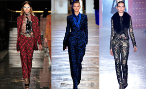 Trend report: printed trouser suit