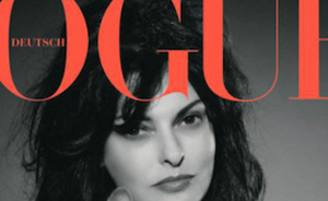 Kat Karl Lagerfeld op cover Duitse Vogue