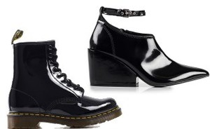 Shopping: 10x black lak boots
