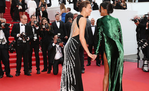 Cannes day 8: black gowns and a hint of color
