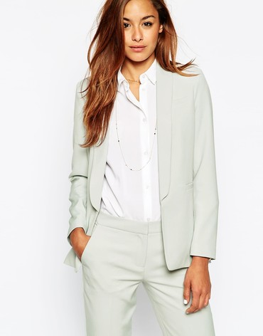 Premium Suit Blazer with Collar Detail