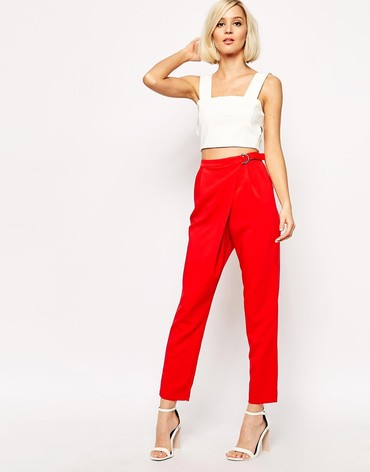 Lavish Alice D- Ring Peg Leg Trouser