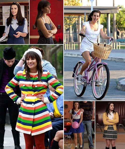 actrices rachel berry glee stijl