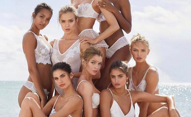 Victoria Secrets modellen naaktzwart een witte pussy
