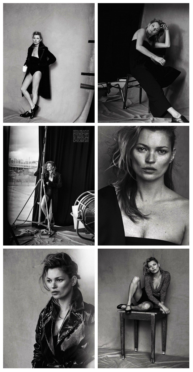 Kate Moss onbewerkt in Vogue Italia
