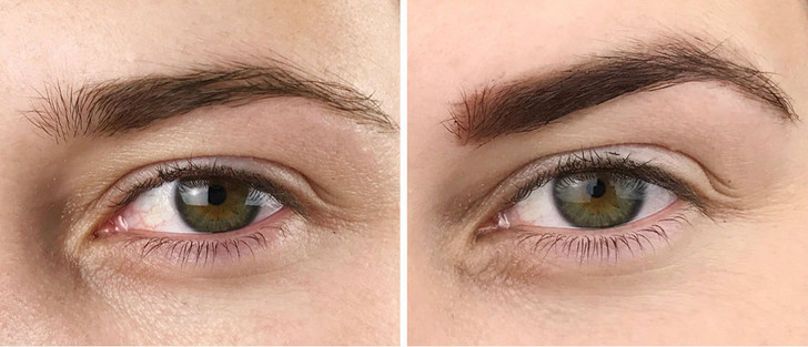 tattoo brow before after