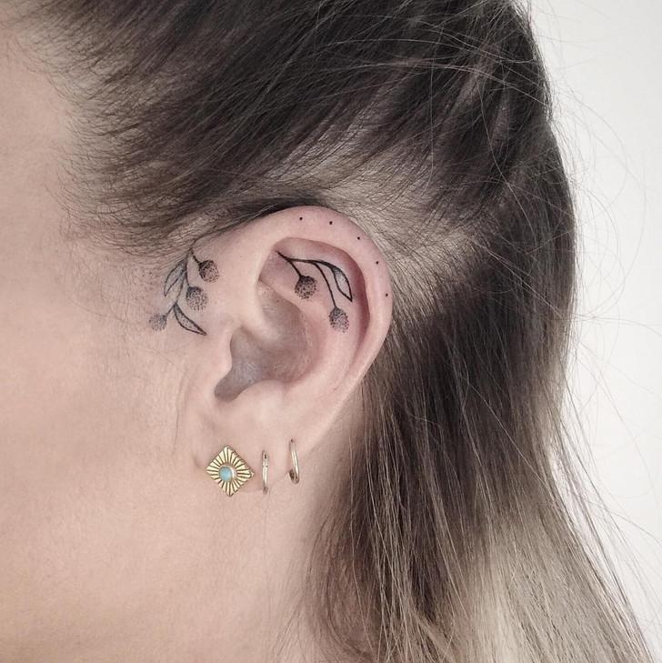 Een Tattoo Op Je Oor Is Helemaal Hot Trendalert