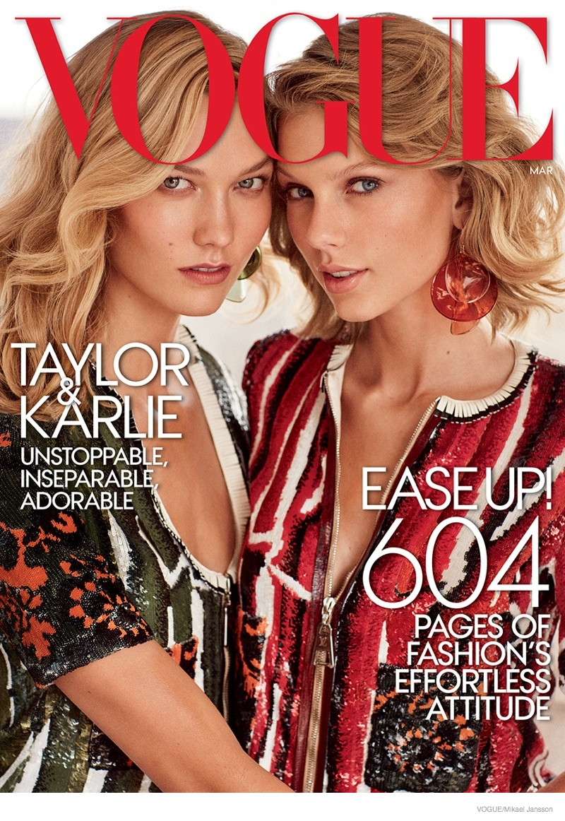 BFF's Karlie Kloss & Taylor Swift op cover Vogue