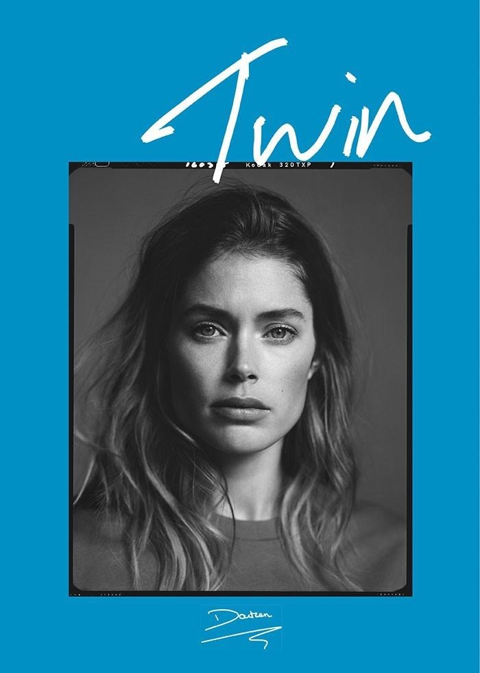 Doutzen Kroes androgyn in covershoot Twin Magazine