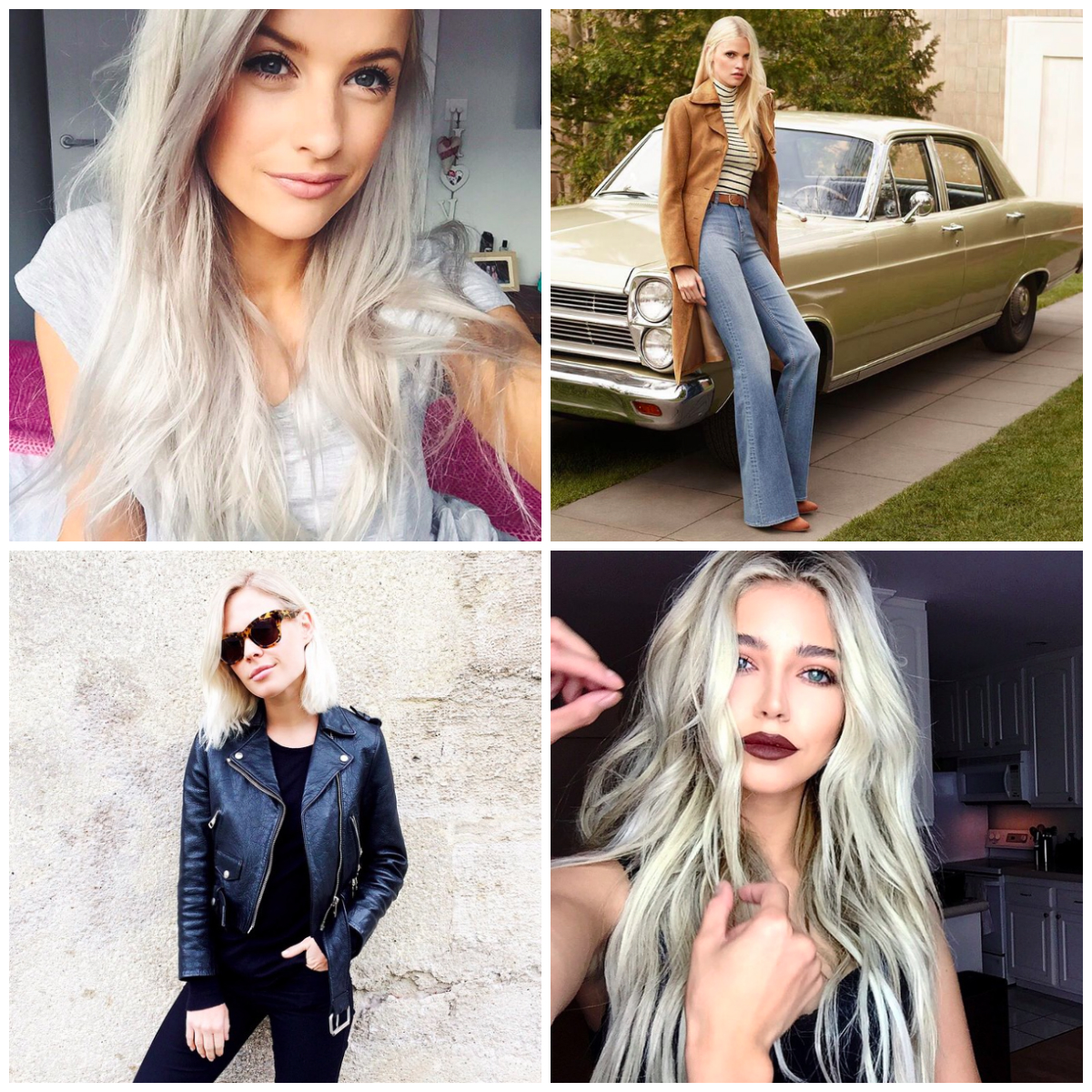 Fashion people trend: platinum hair