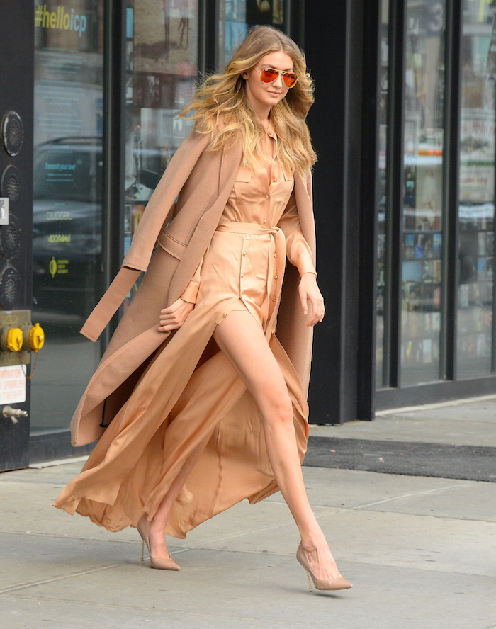 Love the look: Gigi Hadid in all camel