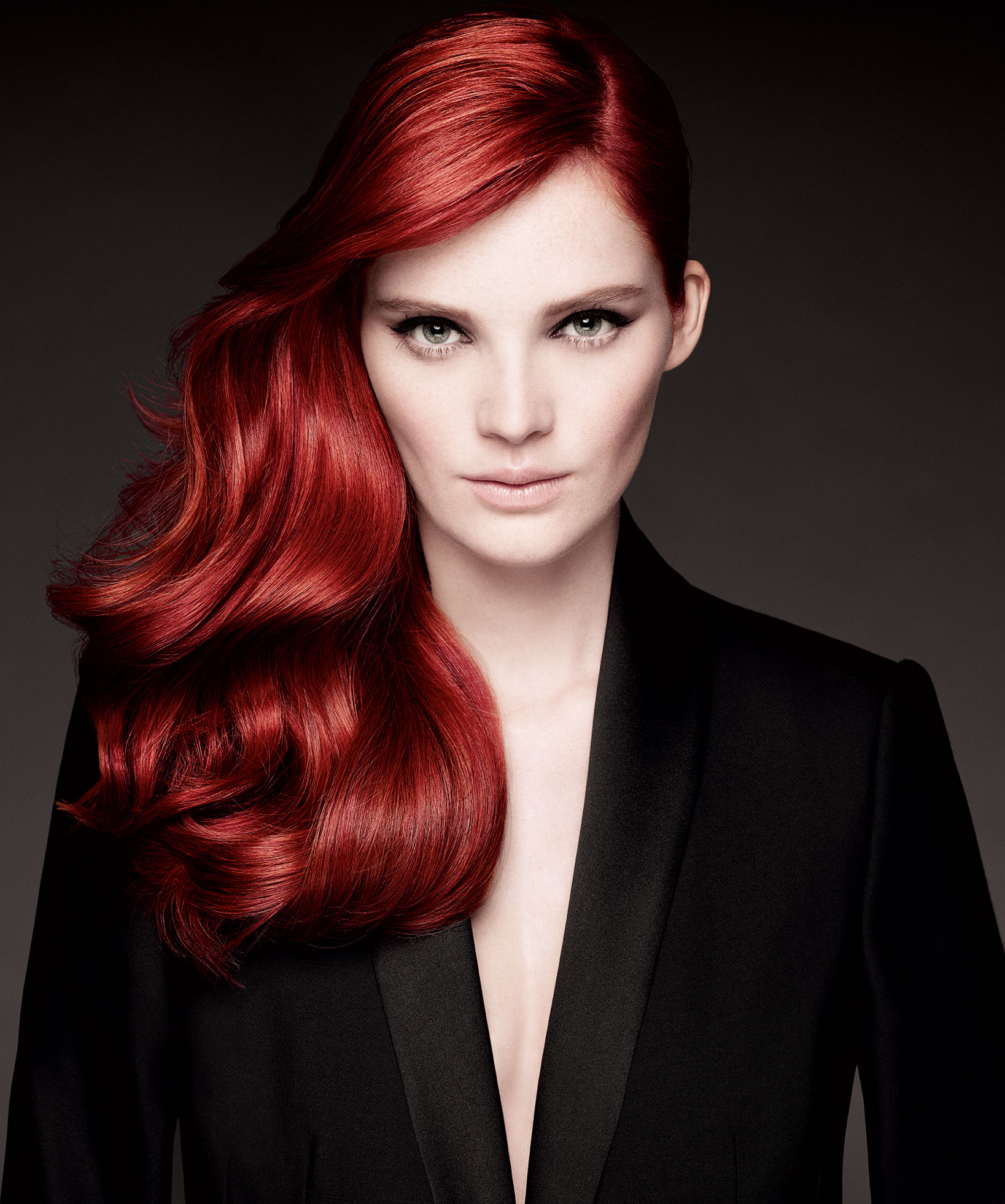 red colored hair