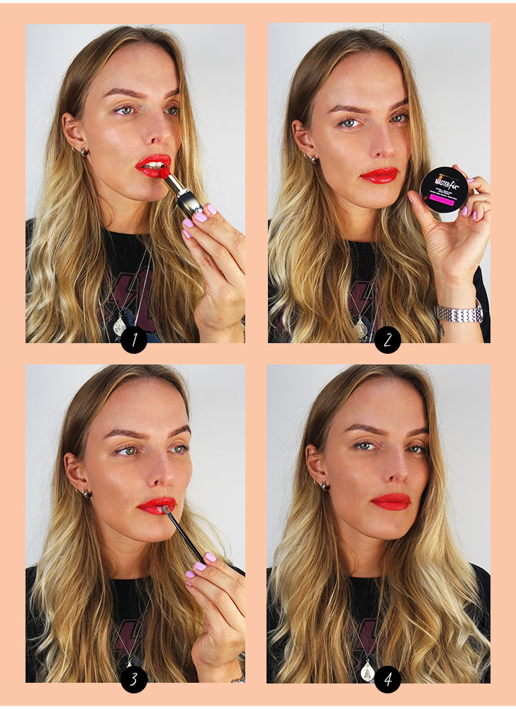 make up hack lippen mat maken