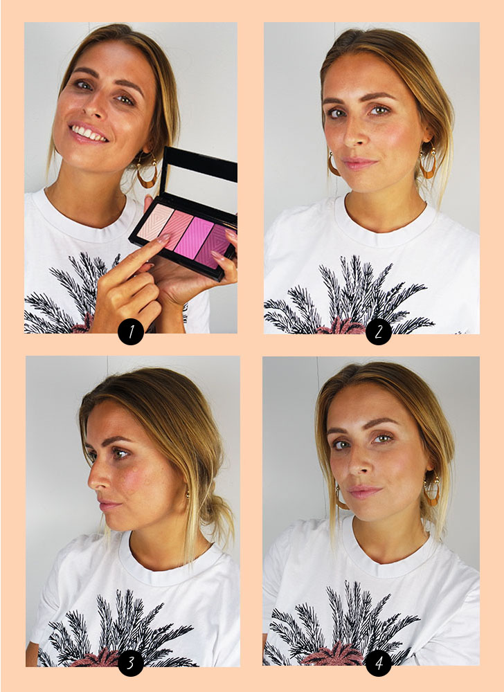 make up hack blush aanbrengen